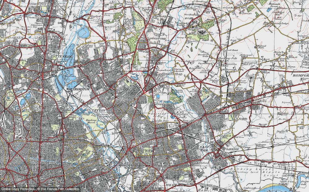 Old Map of Aldersbrook, 1920 in 1920