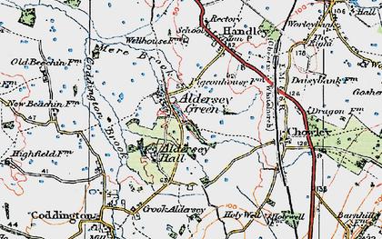 Old map of Aldersey Green in 1924