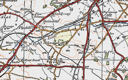 Old map of Aldershawe in 1921