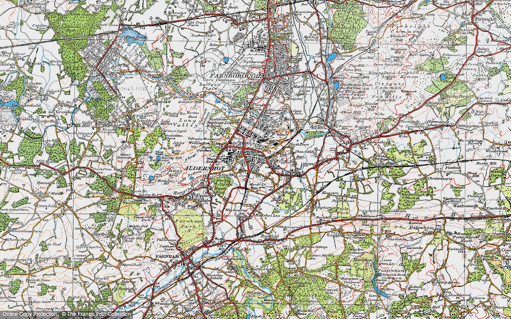 Old Maps of Aldershot Francis Frith
