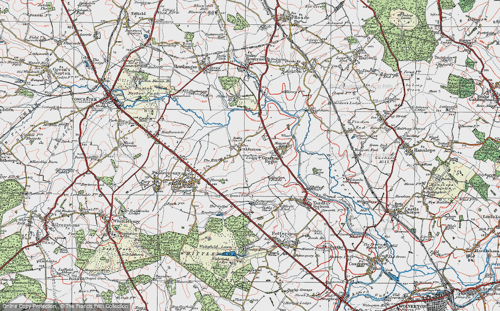 Old Map of Alderton, 1919 in 1919