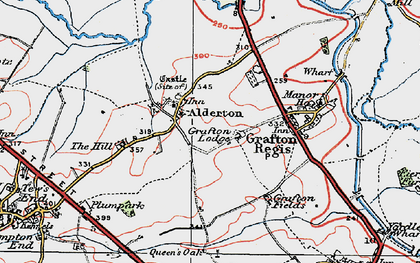 Old map of Alderton in 1919