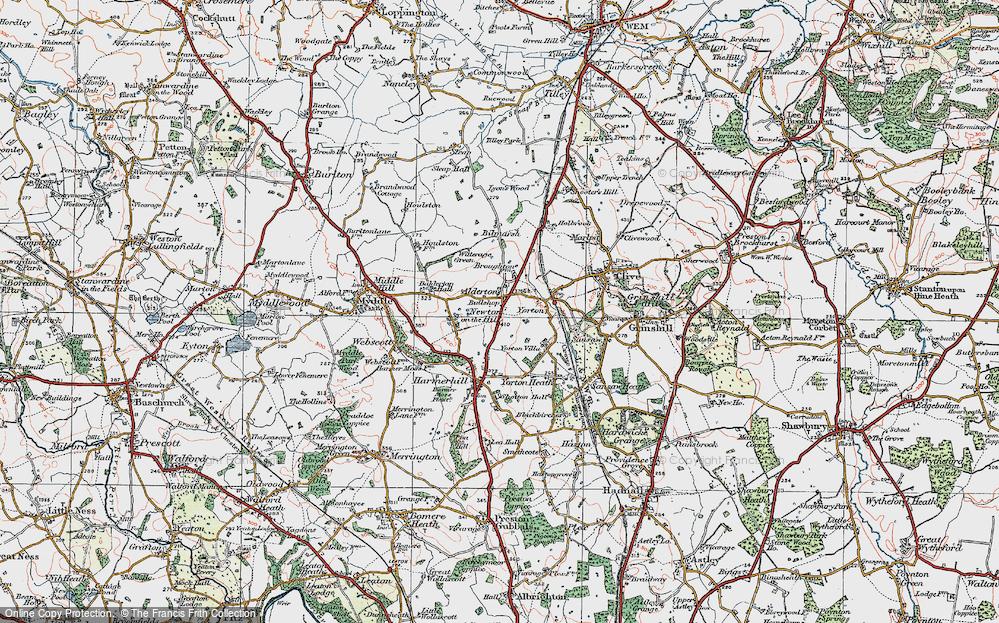 Old Map of Alderton, 1921 in 1921