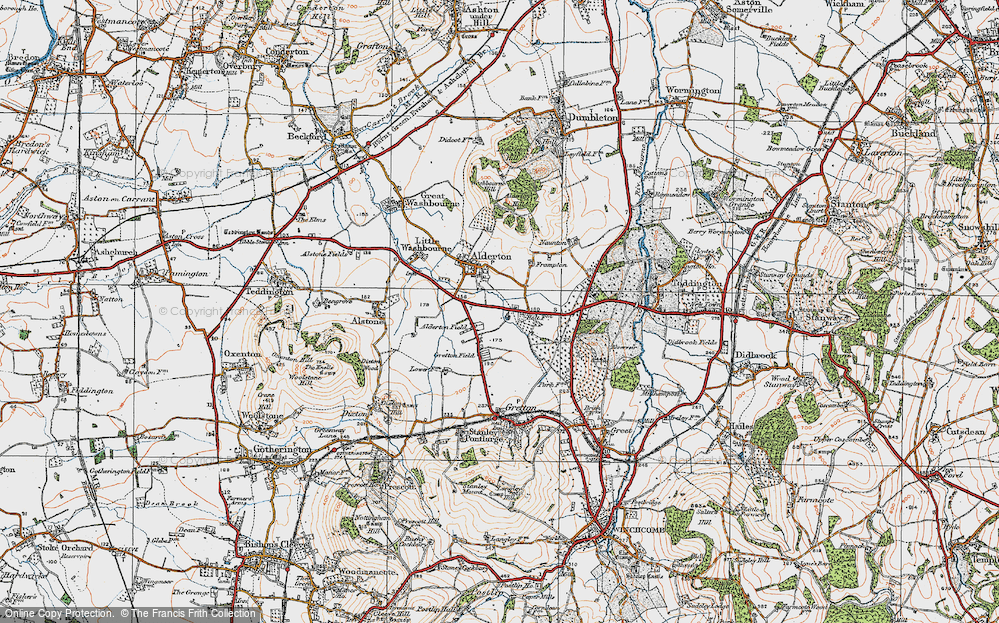 Old Map of Alderton Fields, 1919 in 1919