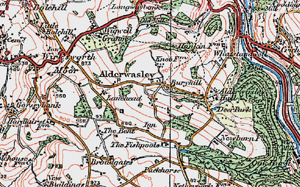 Old map of Alderwasley Hall (School) in 1921