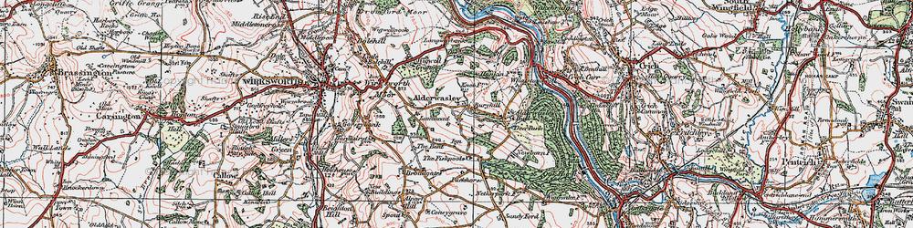 Old map of Alderwasley in 1921