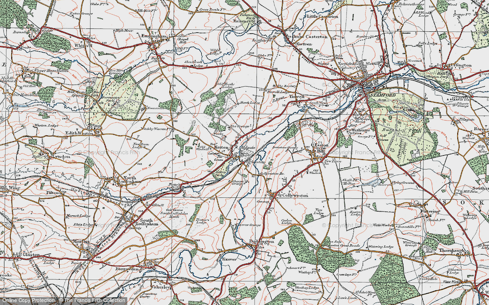 Old Map of Aldgate, 1922 in 1922