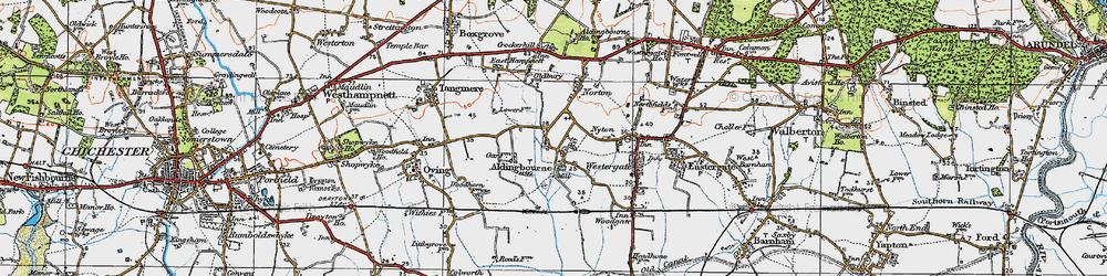 Old map of Aldingbourne in 1920