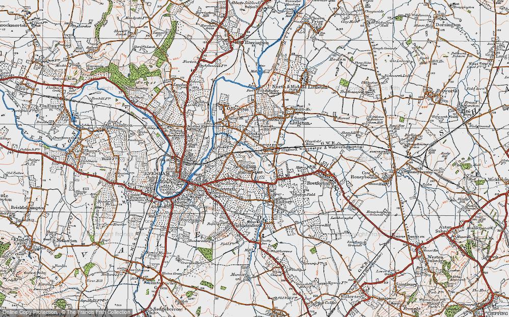 Old Map of Aldington, 1919 in 1919