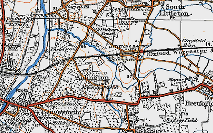 Old map of Aldington in 1919