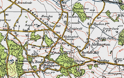Old map of Aldington Knoll in 1921