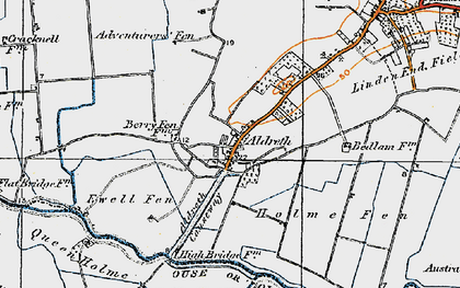 Old map of Aldreth in 1920