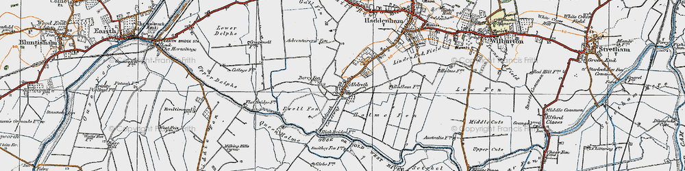 Old map of Adventurers' Fen in 1920