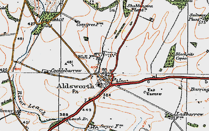 Old map of Aldsworth in 1919