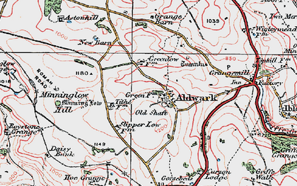 Old map of Aldwark in 1923