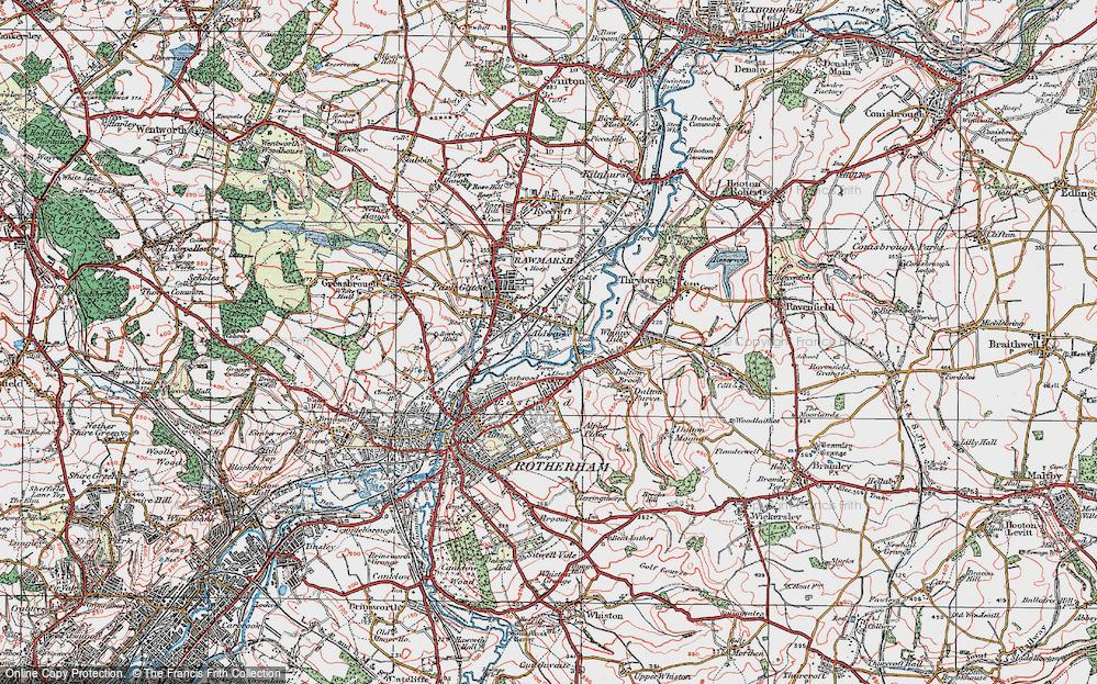 Old Map of Aldwarke, 1924 in 1924