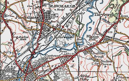 Old map of Aldwarke in 1924