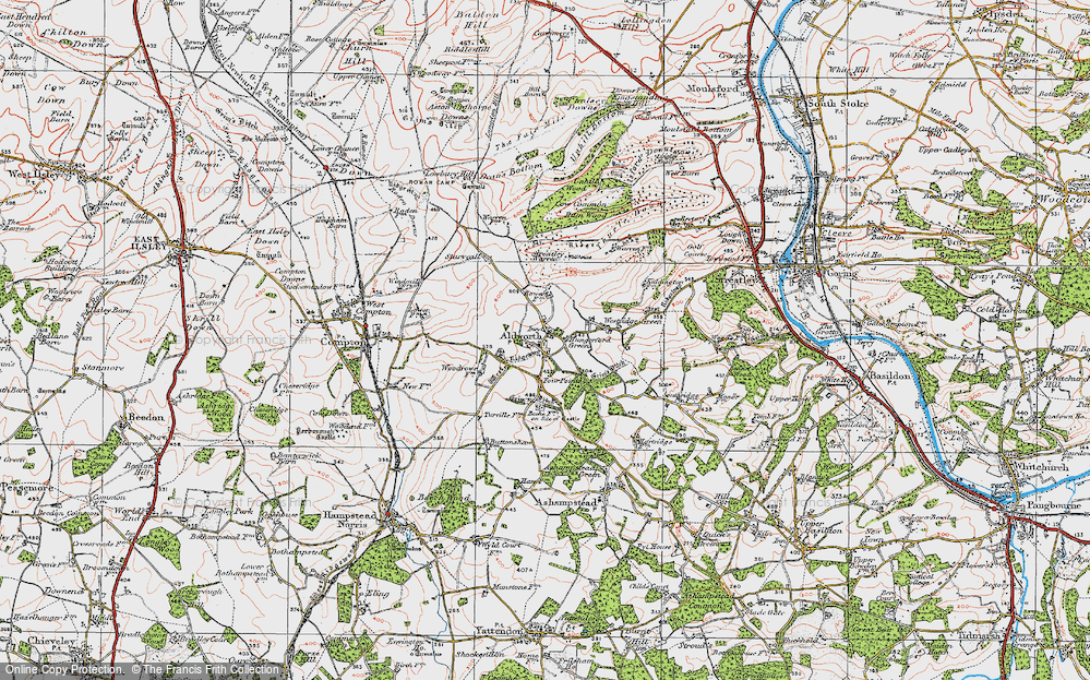 Old Map of Aldworth, 1919 in 1919