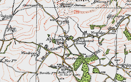 Old map of Aldworth in 1919