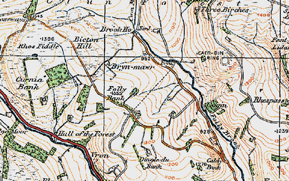 Old map of Ale Oak in 1920