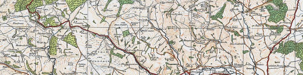 Old map of Ale Oak in 1920