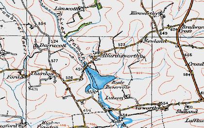 Old map of Alfardisworthy in 1919