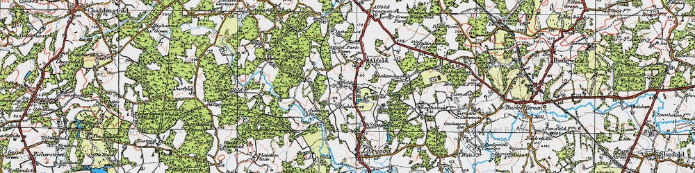 Old map of Alfold Bars in 1920