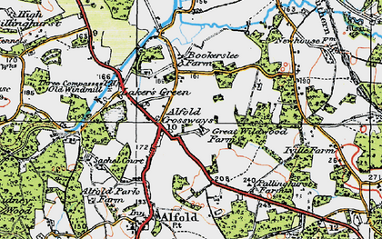 Old map of Alfold Crossways in 1920