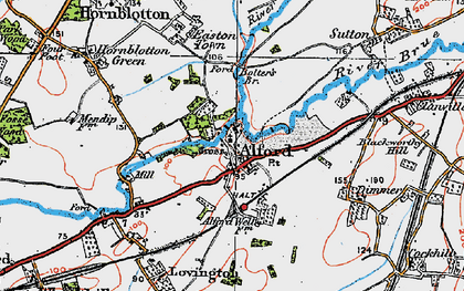 Old map of Alford in 1919