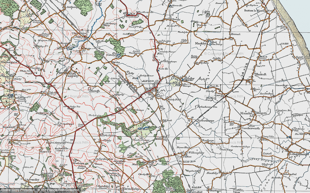 Old Map of Alford, 1923 in 1923