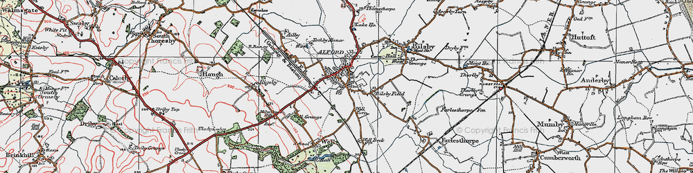 Old map of Alford in 1923