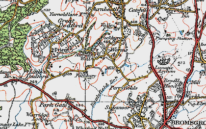 Old map of Alfred's Well in 1919