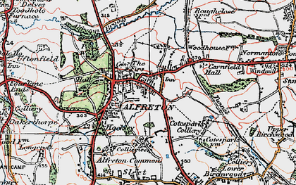 Old map of Alfreton Brook in 1923