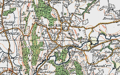 Old map of Alfrick Pound in 1920