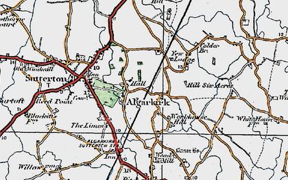 Old map of Algarkirk in 1922