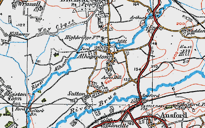 Old map of Alhampton in 1919