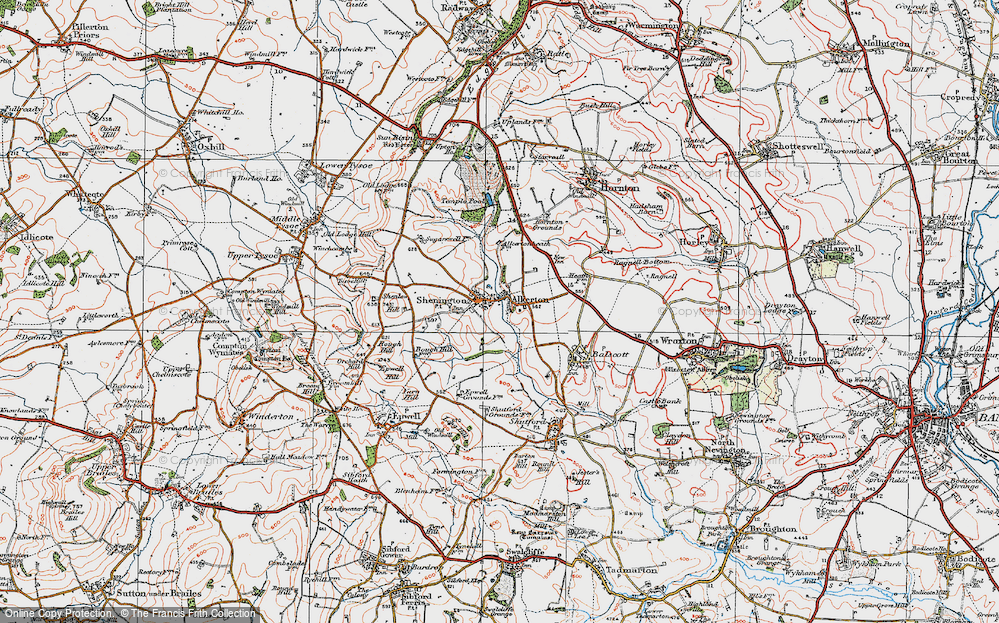 Old Map of Alkerton, 1919 in 1919