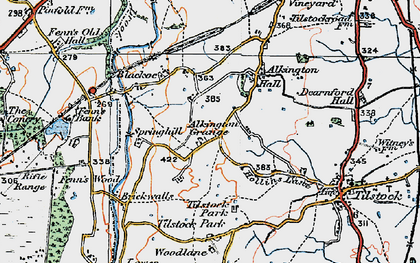 Old map of Alkington Grange in 1921