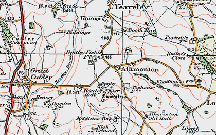 Old map of Alkmonton in 1921