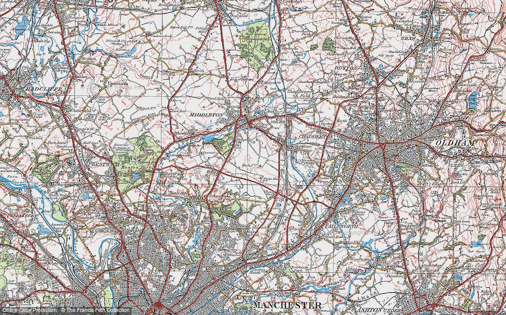 Old Map of Alkrington Garden Village, 1924 in 1924