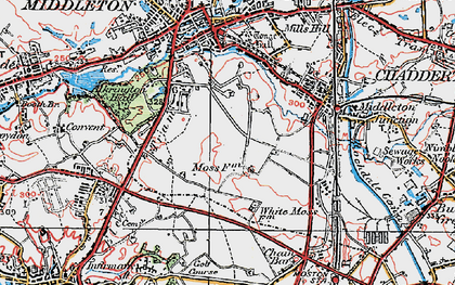 Old map of Alkrington Garden Village in 1924