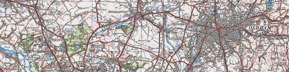 Old map of Tonge Hall in 1924
