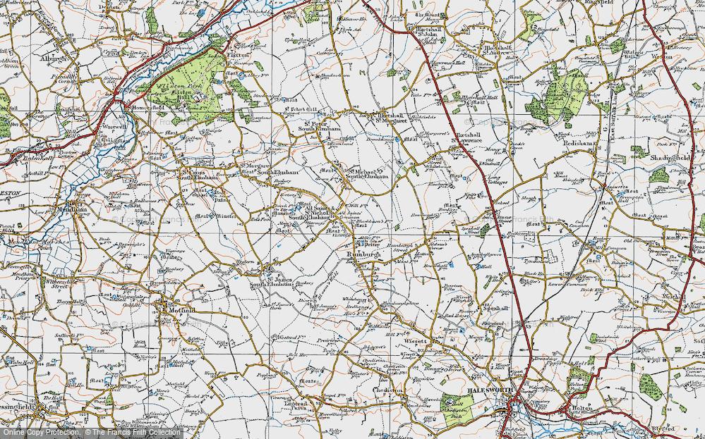 All Saints South Elmham, 1921