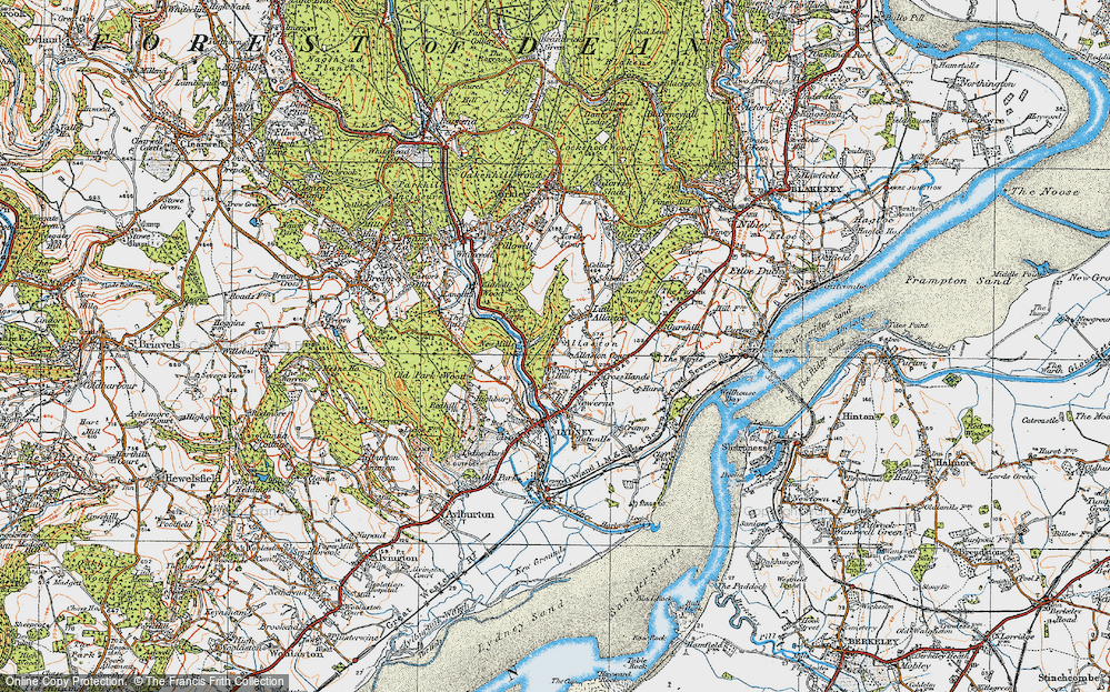 Old Map of Allaston, 1919 in 1919