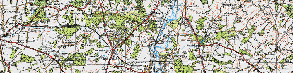 Old map of Allbrook in 1919
