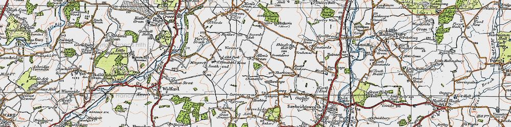 Old map of Allen's Green in 1919