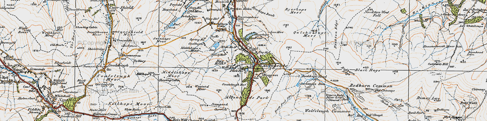 Old map of Allenheads in 1925