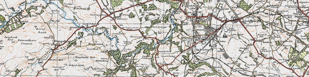 Old map of Allensford in 1925