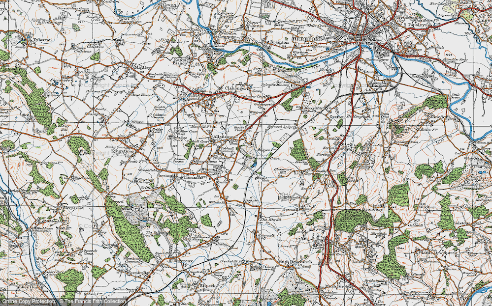 Old Map of Allensmore, 1920 in 1920