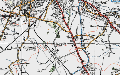 Old map of Allenton in 1921